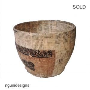 A29 Paper Mache Bowl